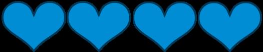 4_blue hearts